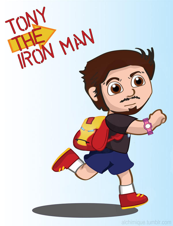 Tony The Iron Man by alchimique