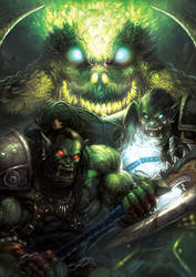 Grom Hellscream and Thrall by HeeWonLee