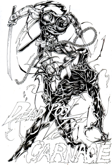 Deadpool VS Carnage by HeeWonLee on DeviantArt