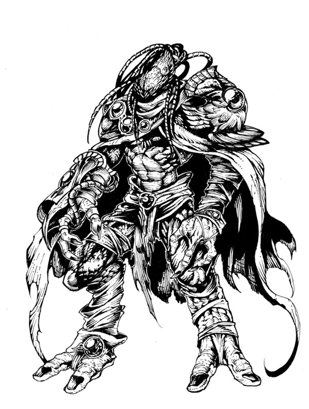 Zeratul by heewonlee on deviantart for Starcraft coloring pages