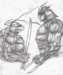 Leo VS Shredder by HeeWonLee