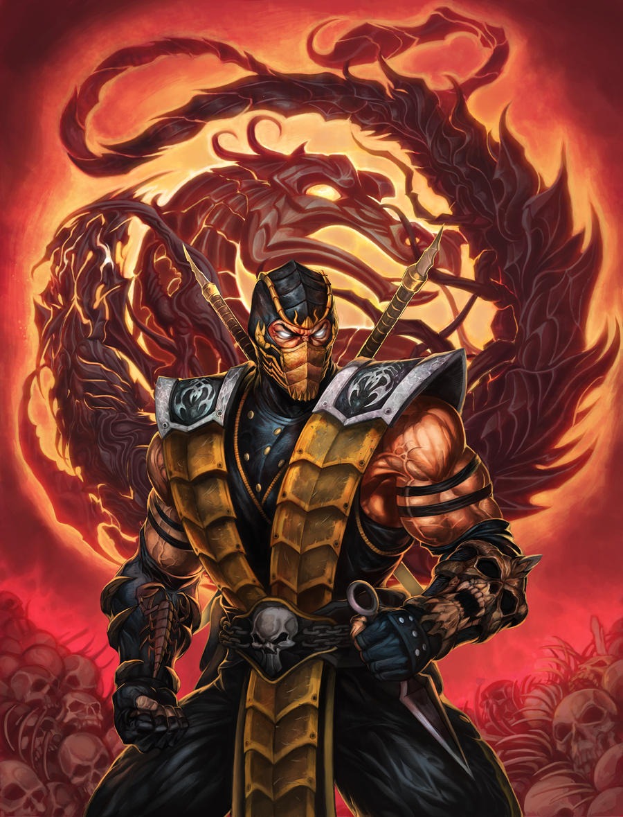 58 killer mortal kombat fan art pieces by danlev on deviantart - Mortal kombat scorpion wallpaper ...