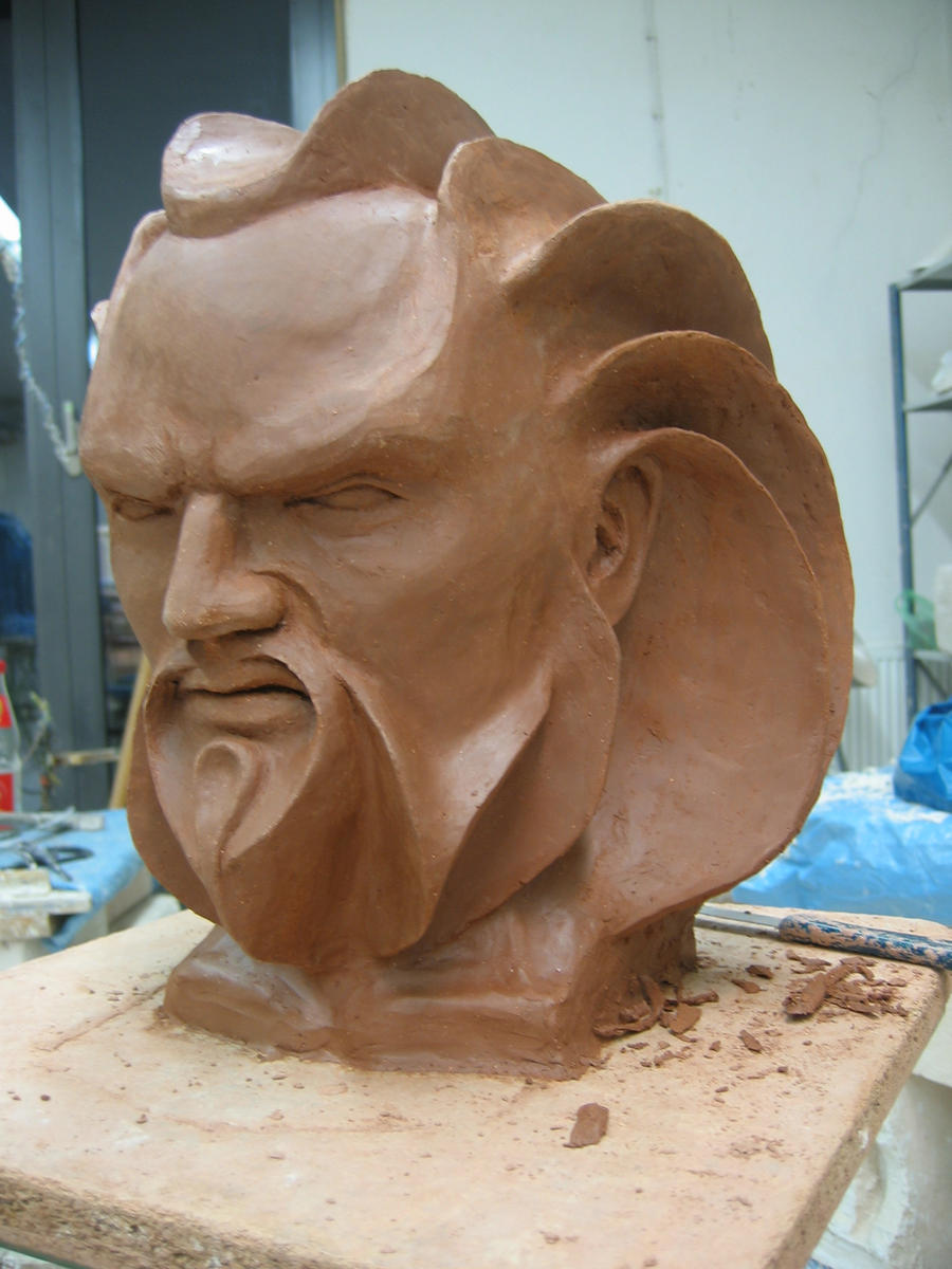 Clay sculpture quot gruschl by jouline on deviantart