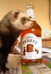 fudge the ferret by LILHILDEZ