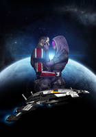 Tali and Shepard by Melasfatum