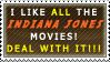 Indiana Jones Movie Stamp
