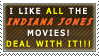 Indiana Jones Movie Stamp by TheKnightOfTheVoid