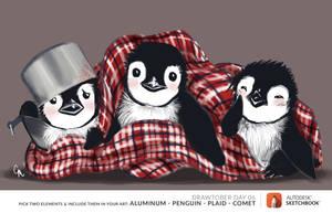 Penguin Trio by SurrealMime