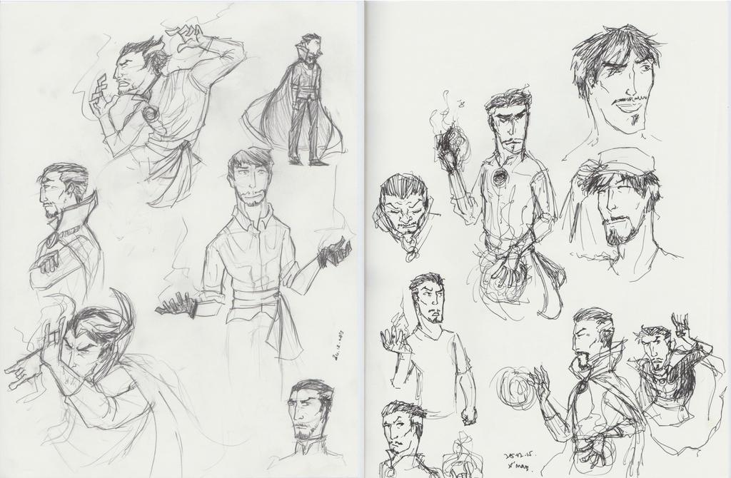 Doctor Strange Sketchdump by MangaArtFan