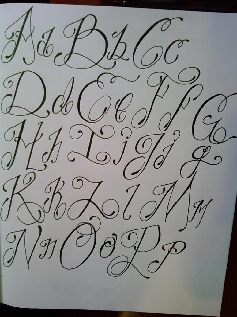 A through p script by laziiboi on deviantart Script art
