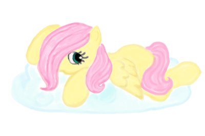 fanart: Young Flattershy MLP NOT MY CHARACTER by WhiteLedy