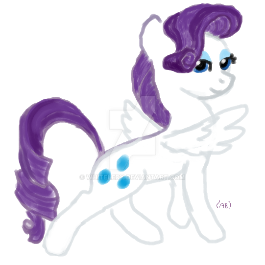 fanart:MLP If it was? Rarity NOT MY CHARACTER by WhiteLedy