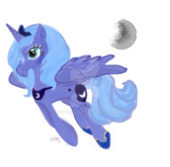 fanart: MLP Luna-NOT MY CHARACTER another ver by WhiteLedy