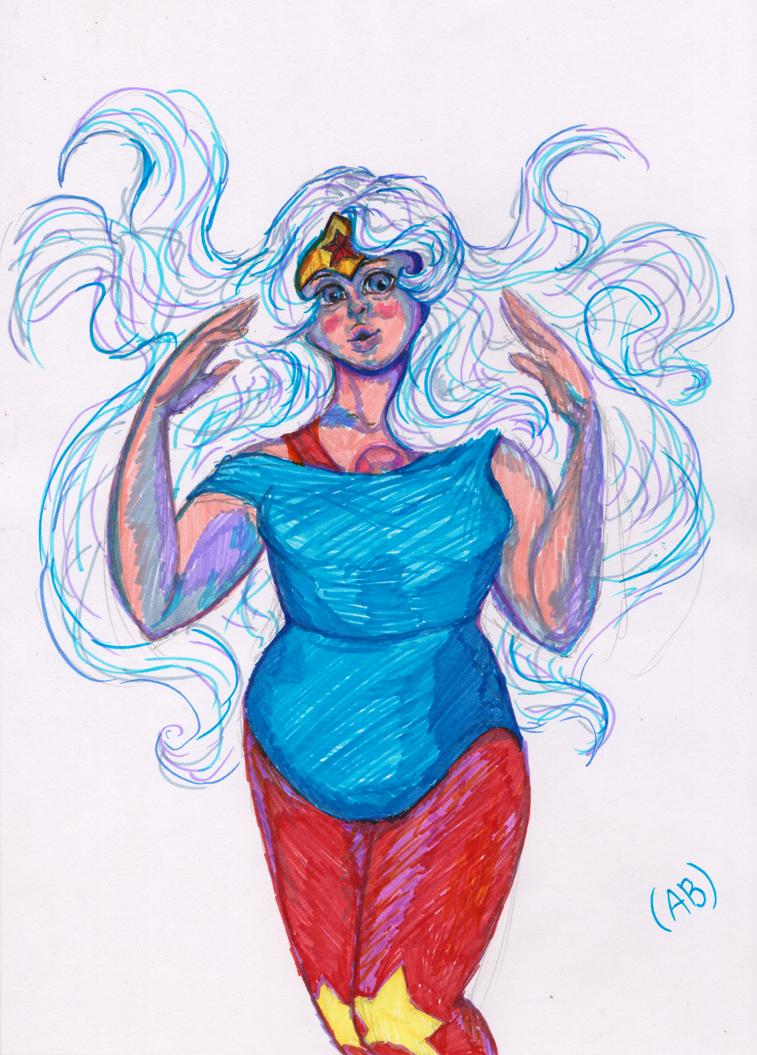 Amethyst - Wonder Woman style by WhiteLedy