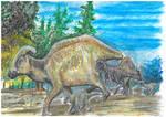 Parasaurolophus and Teratophoneus