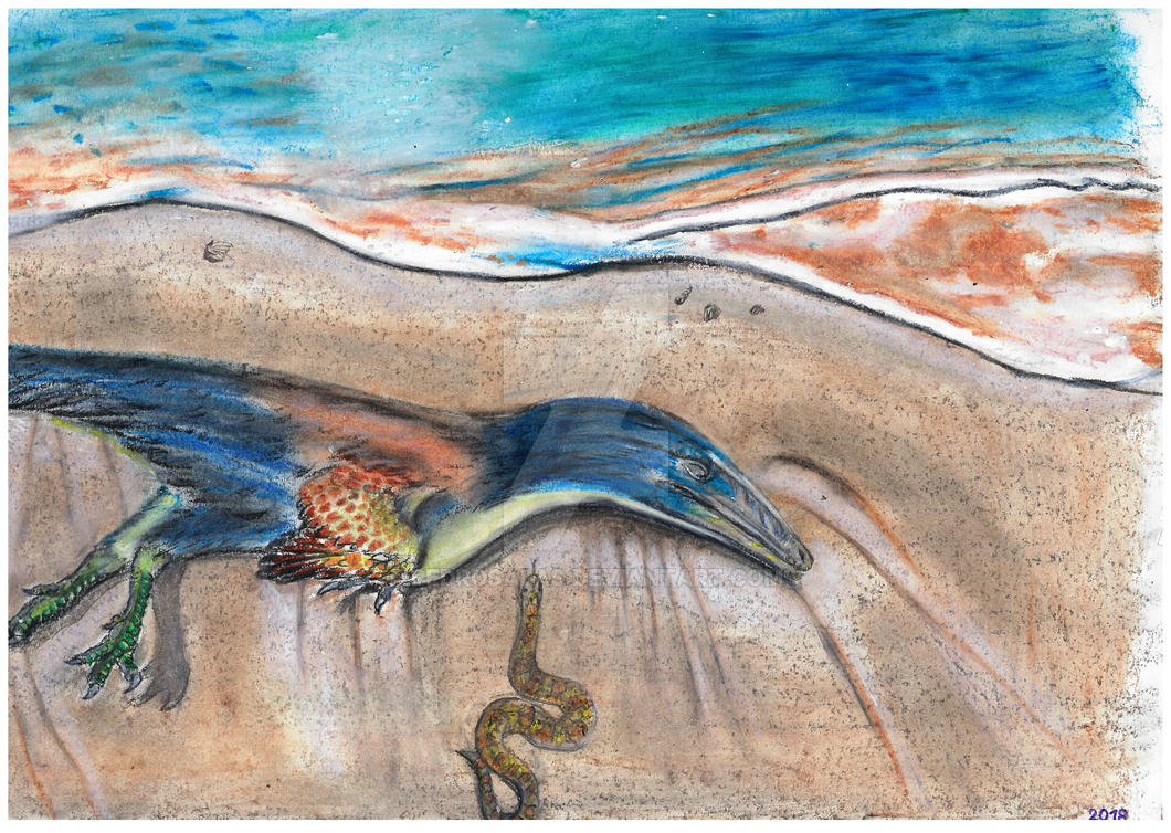 Austroraptor and Dinilysia by PedroSalas
