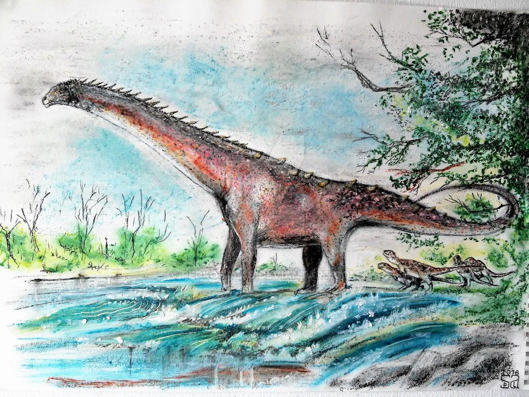 Patagotitan and Ekrixinatosaurus by PedroSalas