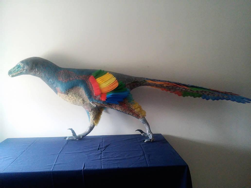 Dromaeosaurus albertensis sculpture by PedroSalas