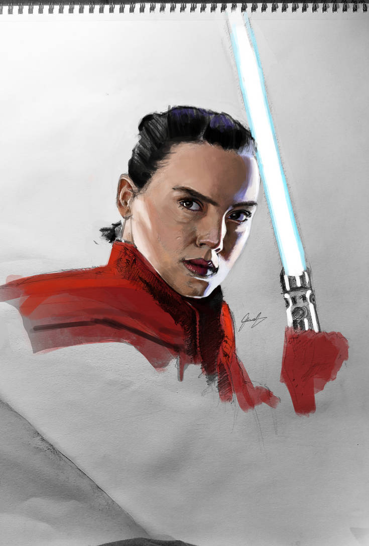 Rey traditional Digitally Colored by jeransome