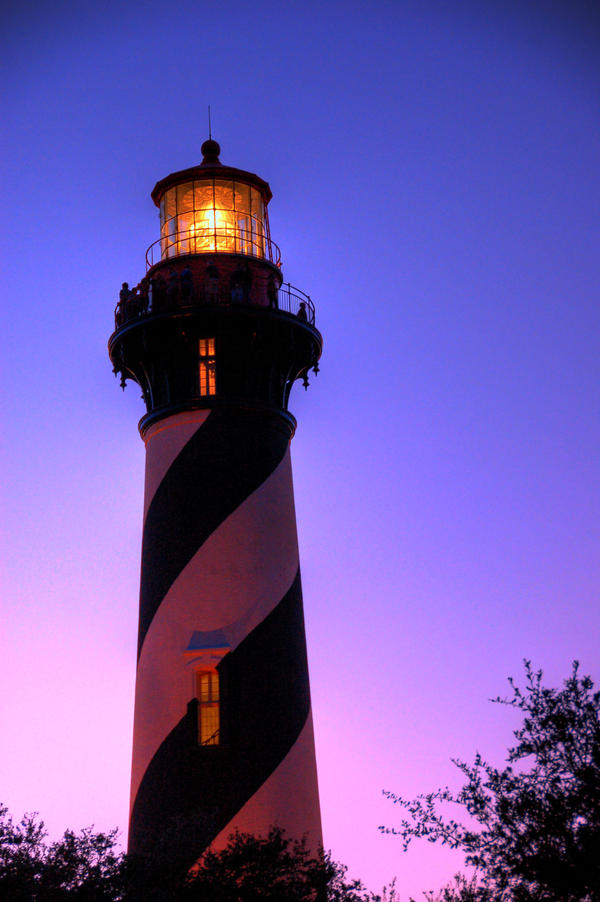 Lighthouse by evening by littlerobin87
