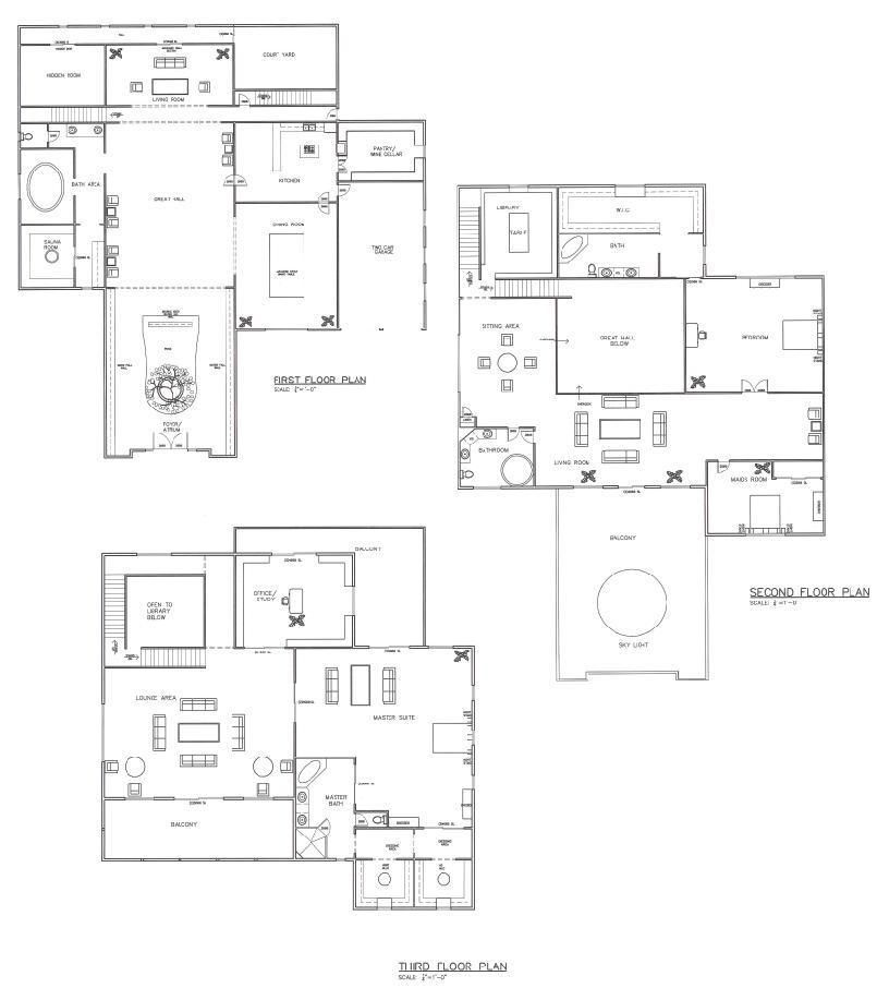 Main house floor plans by A-han-343