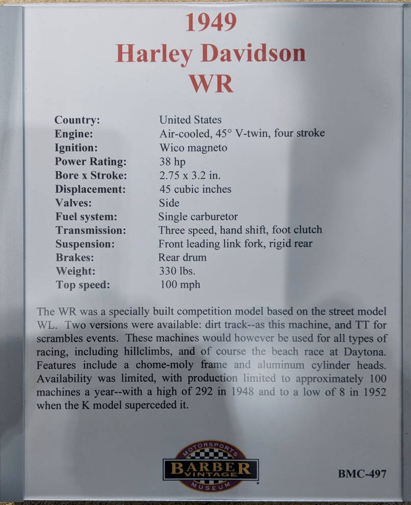 1949 WR Harley-Davidson Racer Information 3 of 3 by Caveman1a on