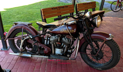 1940s Indian Scout Motorcycle by Caveman1a