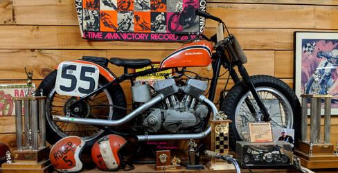 1955 KR Racing Harley-Davidson by Caveman1a