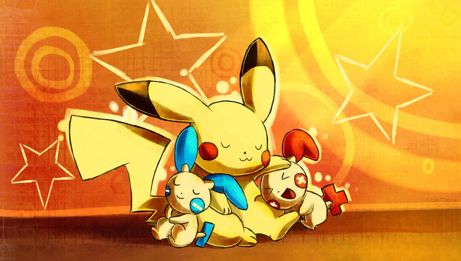 Plusle And Minun Wallpaper Minun and Plusle by La...
