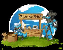[Commission] - Riolu Pup Retail by LazyAmphy