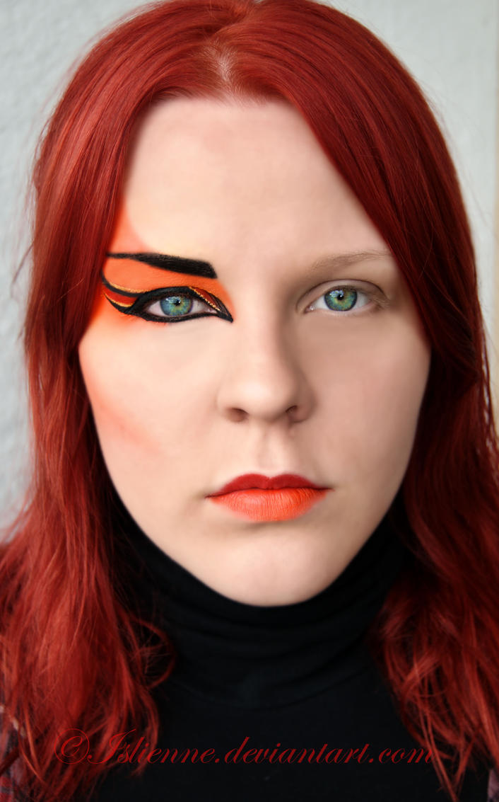 Makeup Ideas fire makeup : Fire-makeup trial by Islienne on DeviantArt