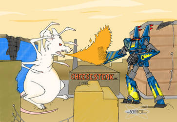 Megas XLR vs Spidermouse by SciStarborne