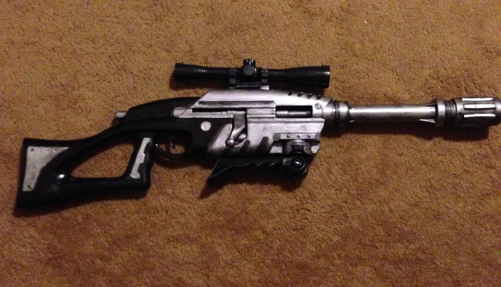 Custom painted nerf sniper rifle by Rising-Darkness-Cos
