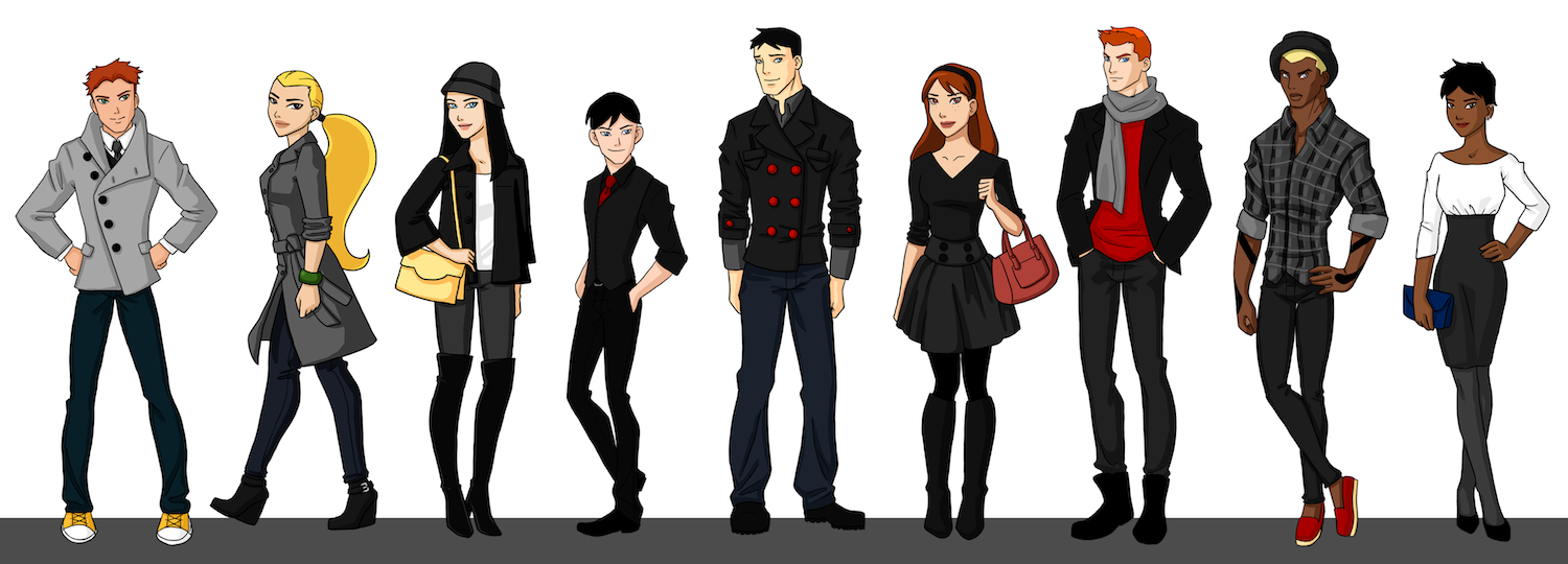 Young Justice - Season 1 Team by bechedor79