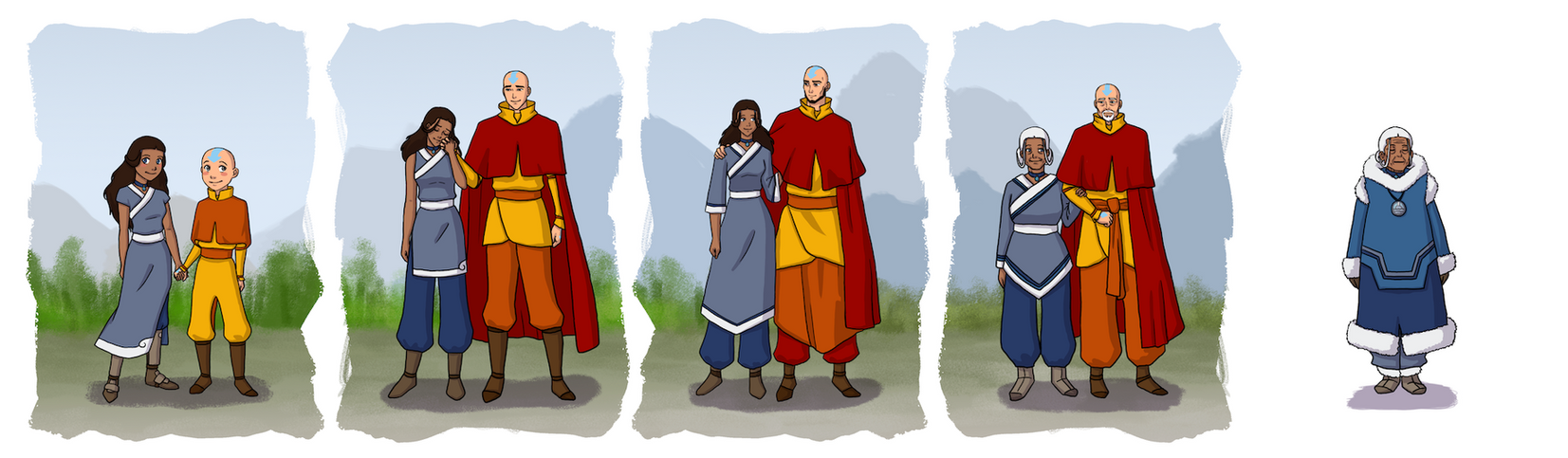 Aang and Katara by bechedor79