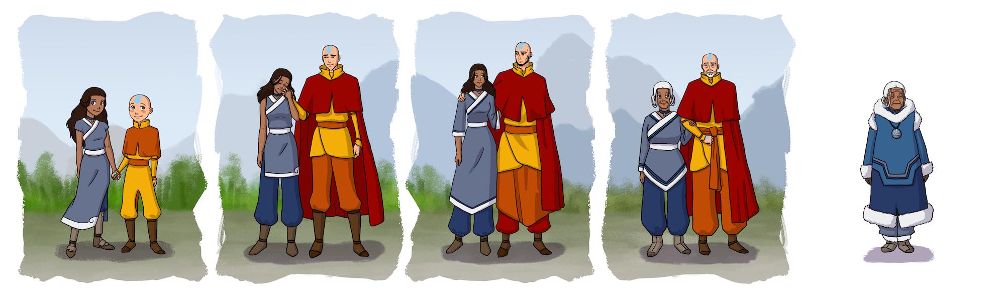 Aang and Katara by bechedor79
