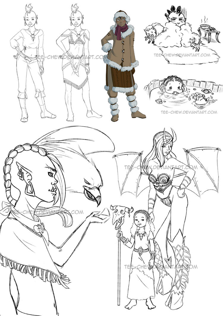 WoW - Kelutra sketches by Tee-chew