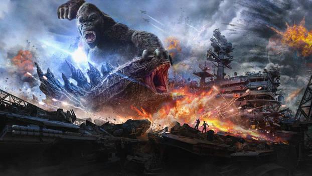 Godzilla Vs Kong (Epic Fight Concept Art)