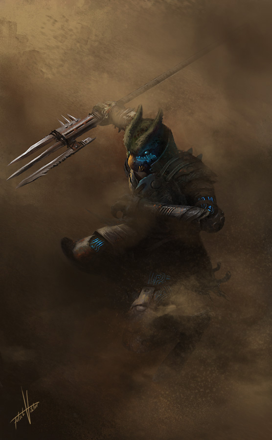 Alien Warrior by Fetsch