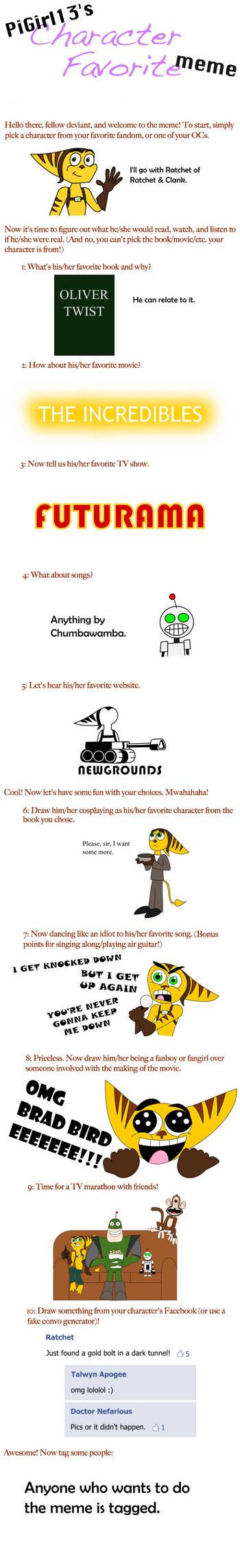 Character favourite meme