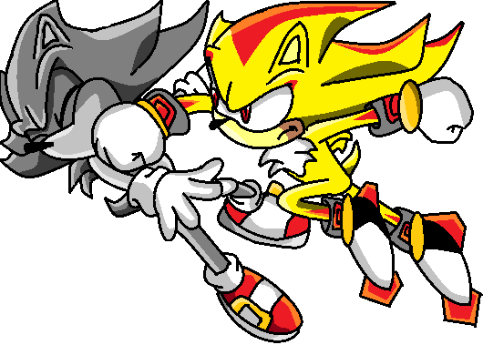 how to draw super shadow the hedgehog