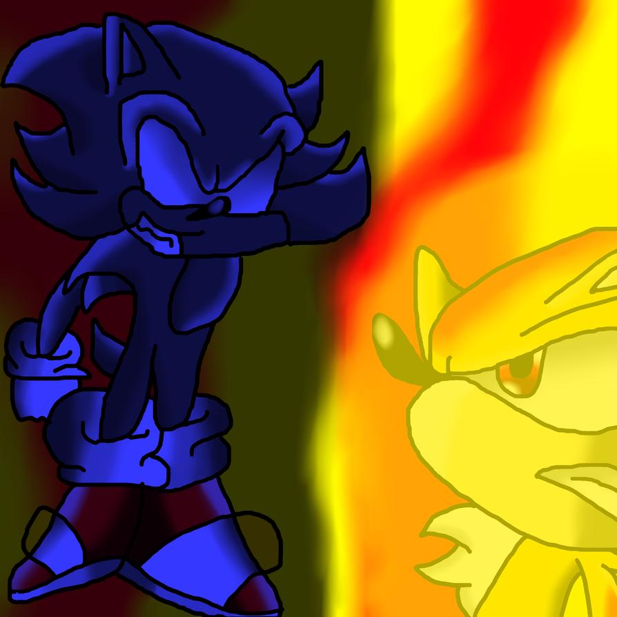 Dark Sonic VS Super Shadow 3 by shadicvsnazo125 on deviantART