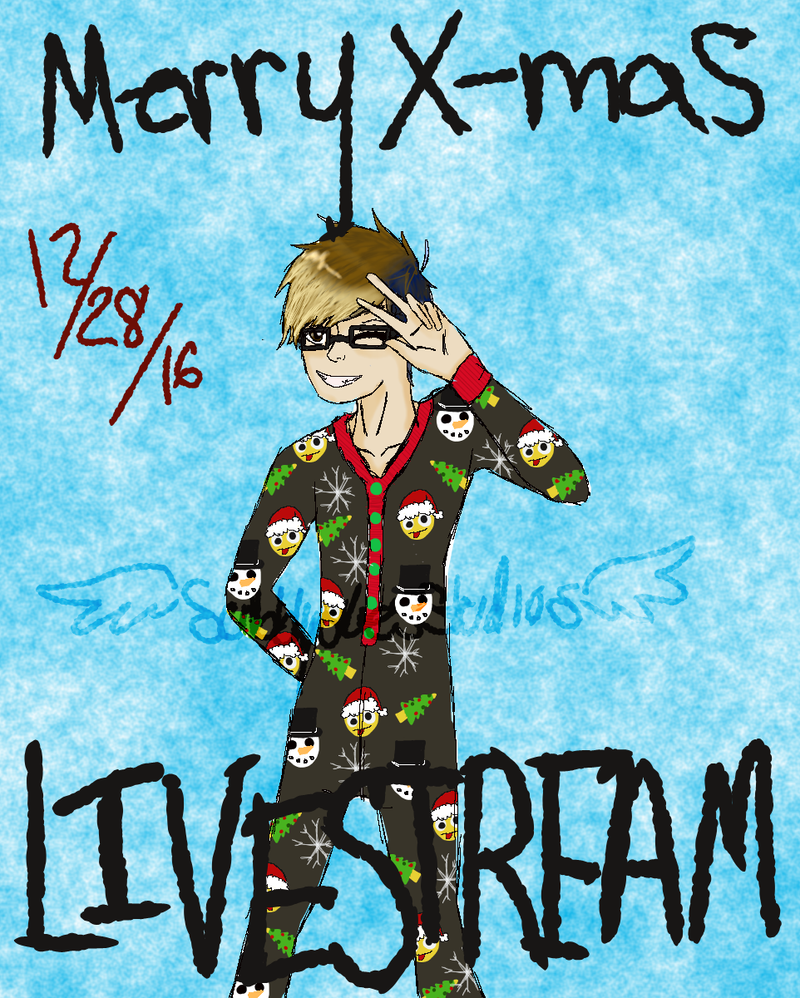 SKye-Merry Xmas-livestream by ScribblySkiesStudios