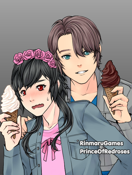 Anime-couple-Ebony Official Ship by ScribblySkiesStudios
