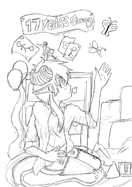 Deviantart-17-birthday-sketch by ScribblySkiesStudios