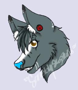 skye Anthro wolf form-1st icon by ScribblySkiesStudios