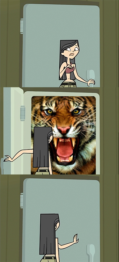 Heather Opens the Fridge and Finds a Tiger