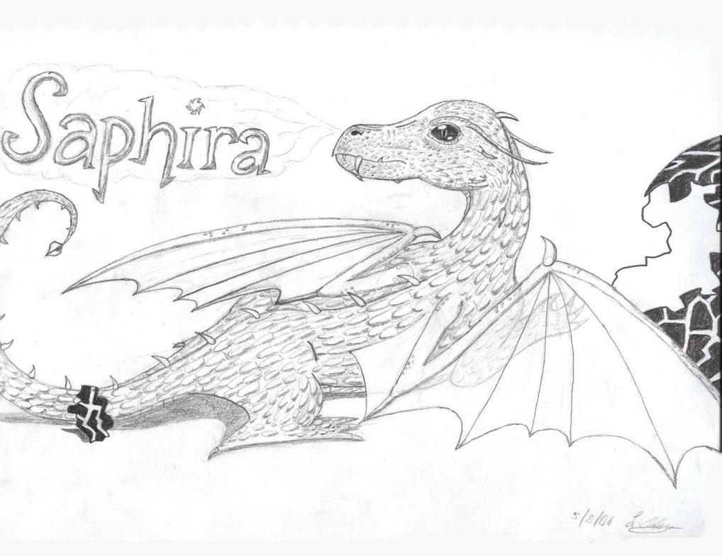 Eragon Saphira - Free Coloring Pages