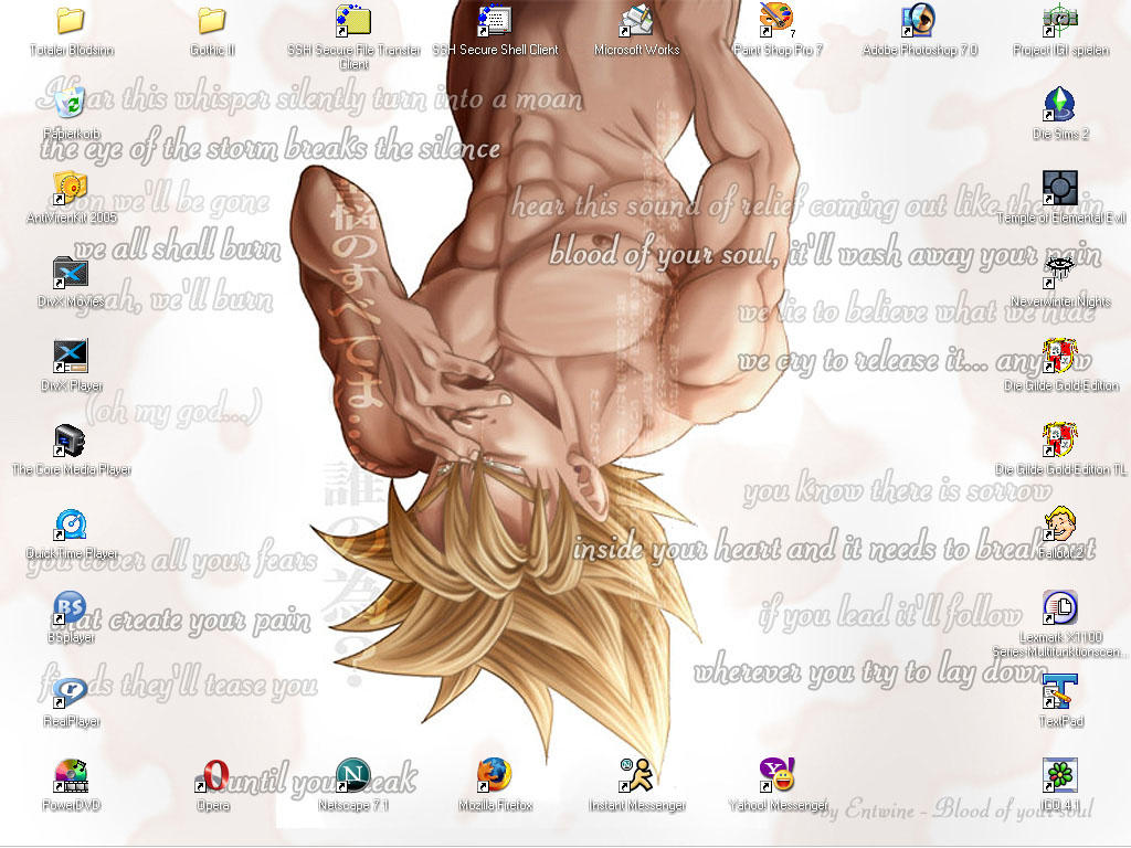 Crying Goku desktop motiv by Moonsylver