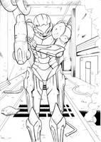 Metroid Commission Inks by JorgeSantiagoJr